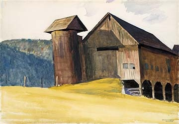 Edward Hopper, Barn and Silo, Vermont, on loan from the Metropolitan Museum of Art