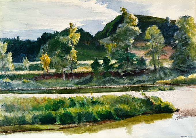 Edward Hopper, White River at Royalton, Vermont