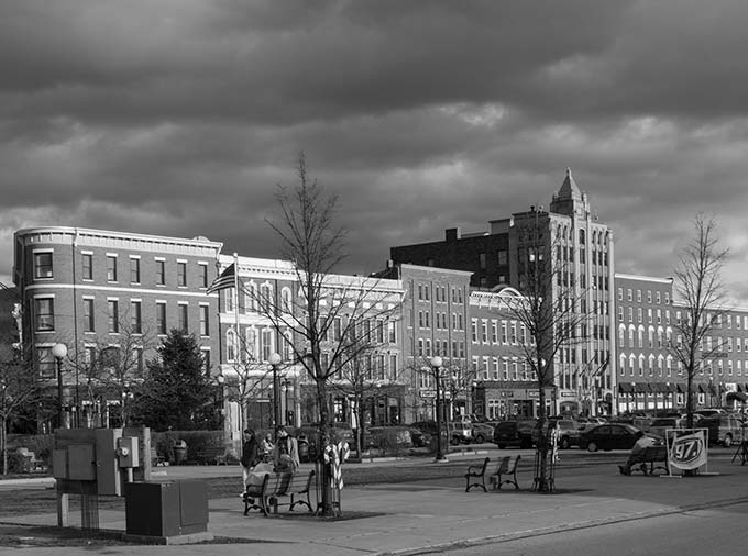 Downtown City of Rutland, photo by Curtis Johnson