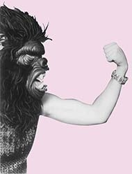 Guerrilla Girls pink fist