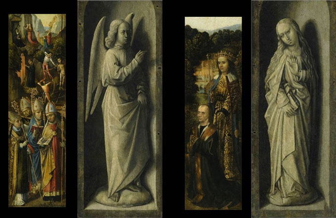 Wings of a Triptych, by the Master of the Saint Ursula Legend