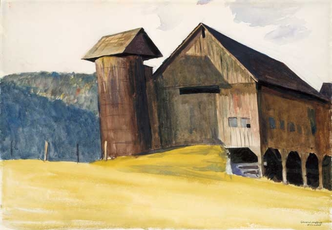 Edward Hopper, Barn and Silo, Vermont