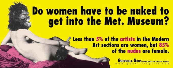 Guerrilla Girls, Do women have to be naked to get into the Met Museum
