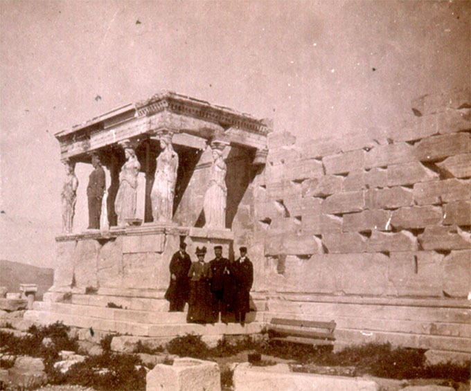 early tourists at the Acropolis