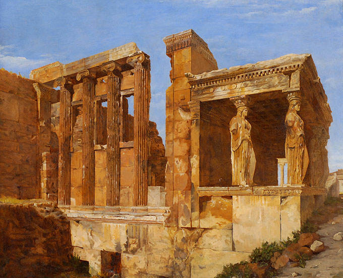 Charles Lock Eastlake, A View of the Erechtheum on the Acropolis, Athens
