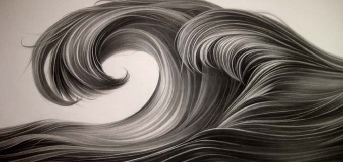 Hong Chun Zhang, Curl, 2019, charcoal on paper