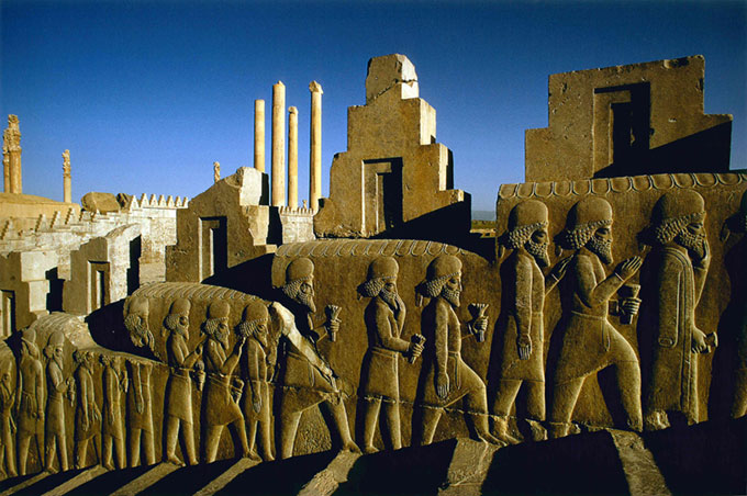 Persepolis, Iran, 1975, photo by James P Blair