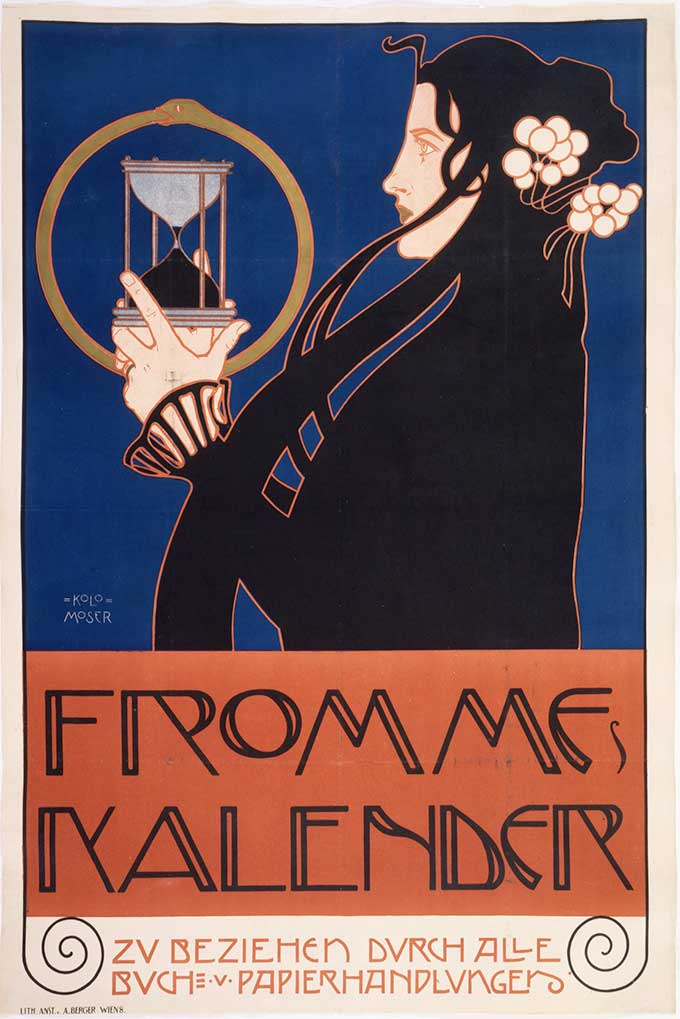 Koloman Moser, Poster for Frommes Calender Vienna