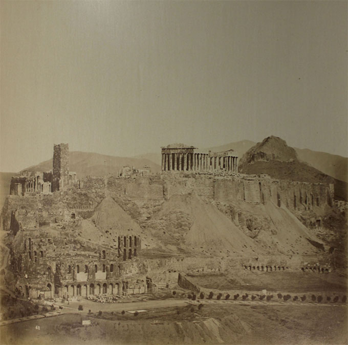 Dimitrios Konstantinou, General view of the Athenian Acropolis and the South Slope from the southwest
