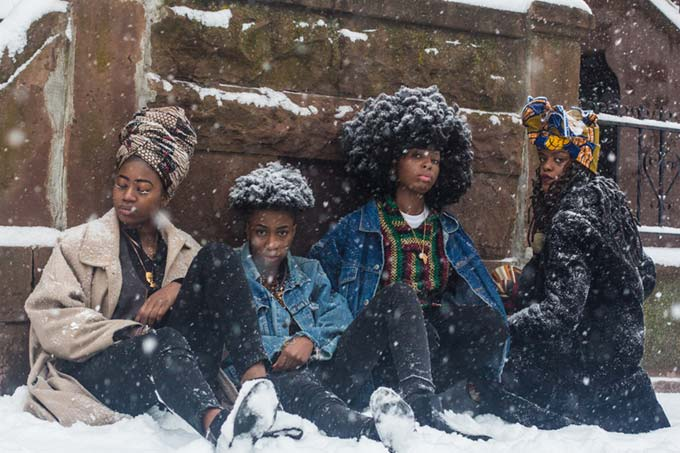 Mikael Owunna, Four Queer African Women in the Snow