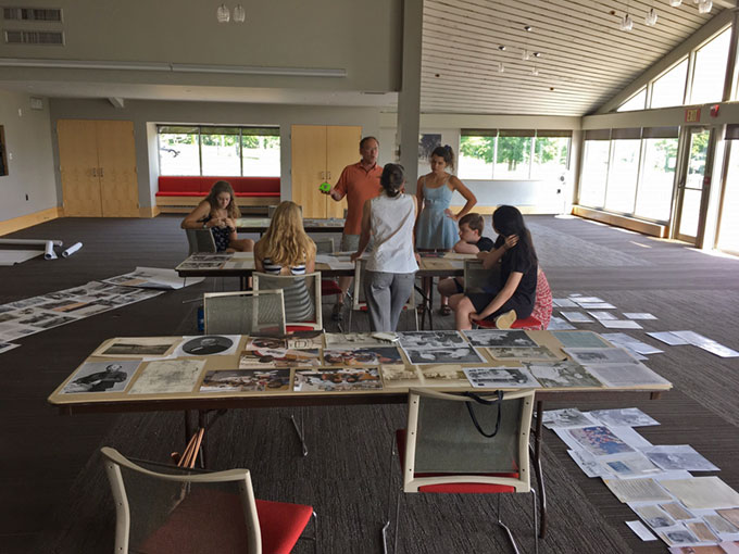 2018 MuseumWorks interns prepare their exhibition