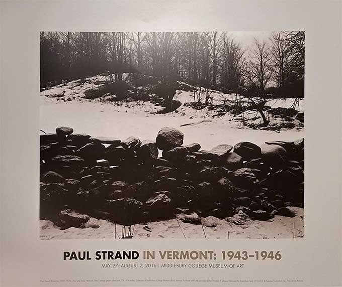 Paul Strand in Vermont poster
