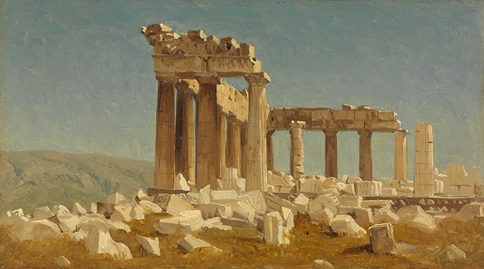 Sanford Robinson Gifford, The Parthenon, May 10, 1869