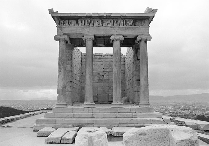 Socratis Mavrommatis, Parthenon, Temple of Athena Nike, post-intervention