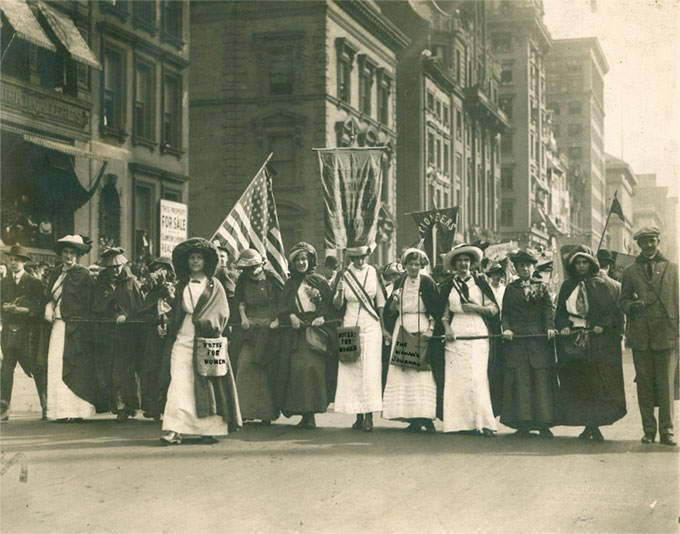 Suffrage Parade on 5th Avenue, October 23, 1915