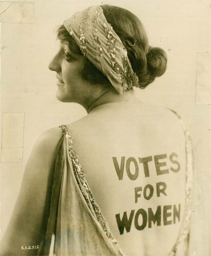 Votes for Women back paint