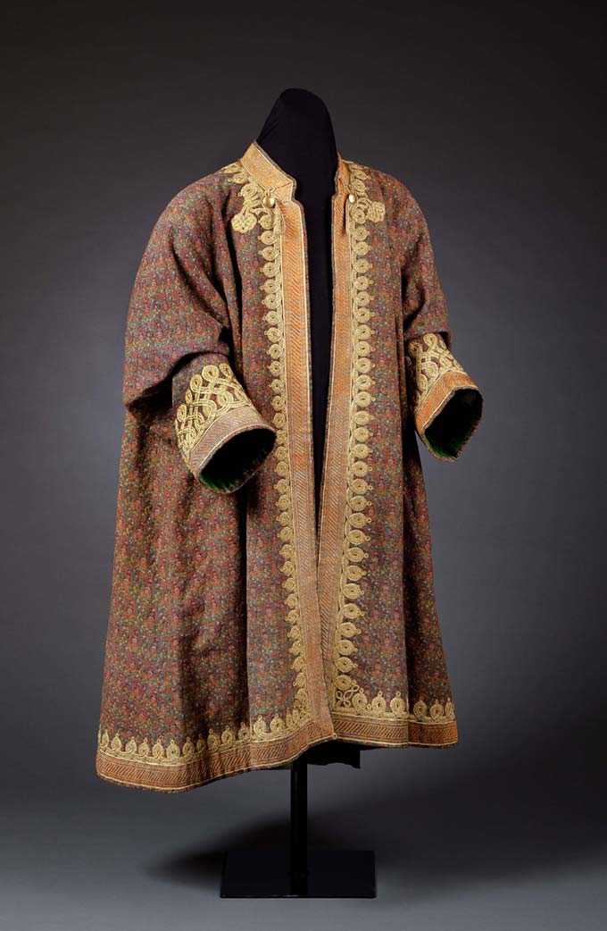 Man's Kaftan with Woven Boteh and Floral Motifs