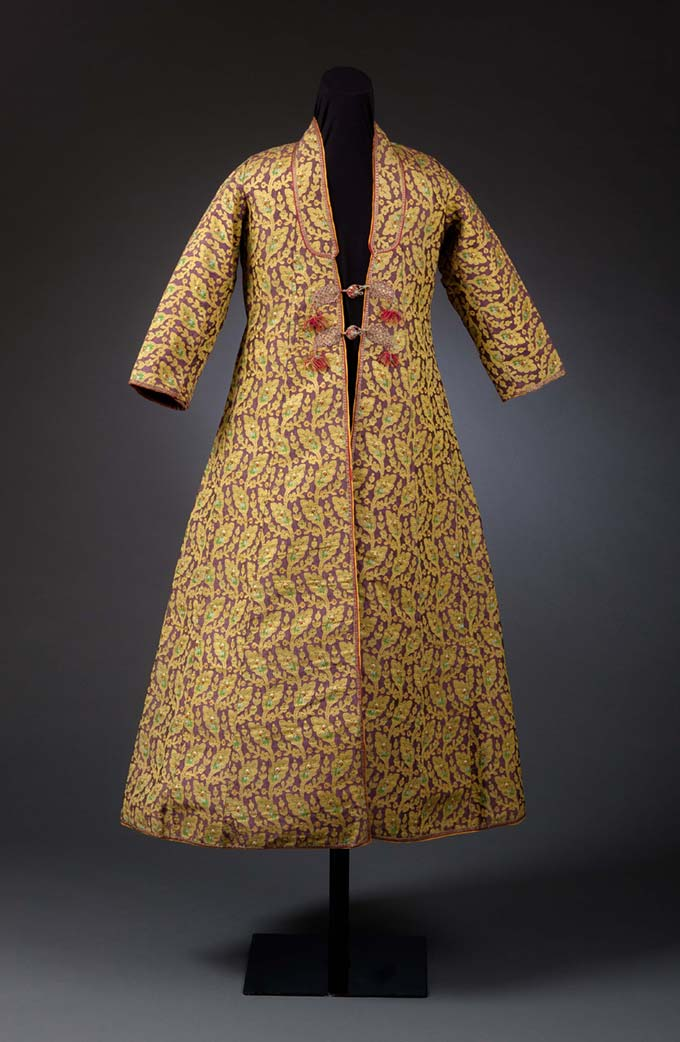 Man's Sawari Coat with Boteh and Woven Floral Motifs