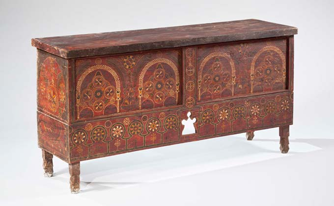 Sondouq Bridal Chest with Architectural and Floral Motifs