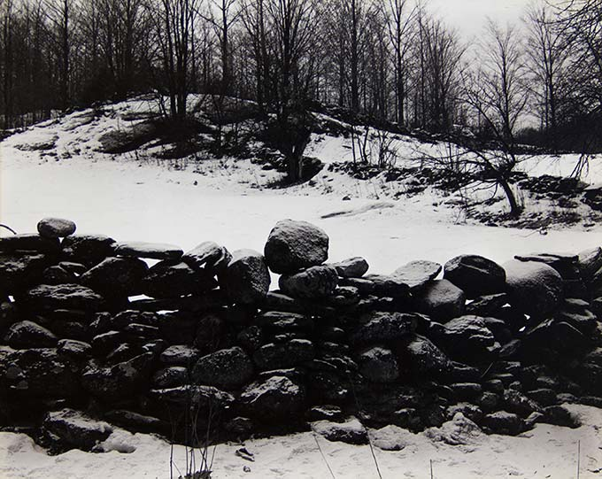 Paul Strand, Wall and Snow, Vermont