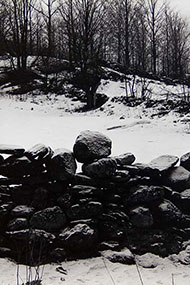 detail of Paul Strand, Wall and Snow