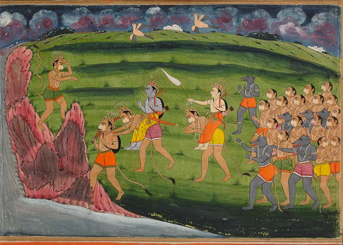 Illustration from the Ramayana