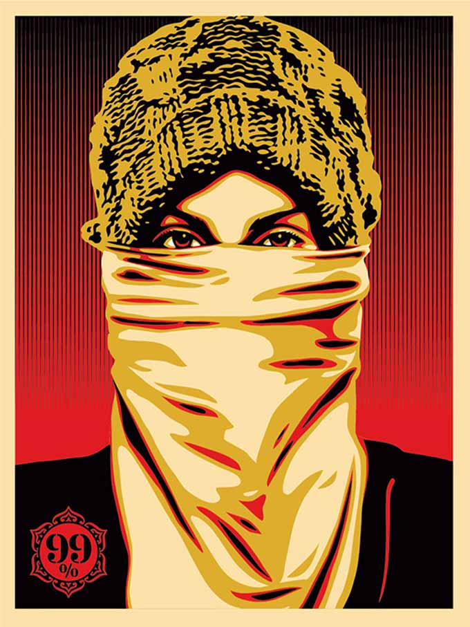 Shepard Fairey, Occupy Protestor