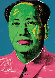 Andy Warhol, Mao, detail